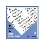 Plaque de plastique blanc. 19 x 29 cm ep. 0,5 mm - 3 pcs
