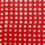 Papier Lokta 50 x 75 cm Pois rouge
