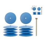 Polissoirs élastiques en silicone - Lentille Ø 5 mm - 10 pcs