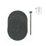 Disques à tronçonner en oxyde d'aluminium - Ø 38 mm - 5 pcs