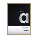 Cadre en aluminium Alpha plaqué bois teinte chêne - 18 x 24 cm