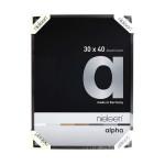 Cadre en aluminium Alpha Noir anodisé Mat - 18 x 24 cm