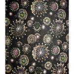 Papier Japonais 52 x 65,5 cm 100 g/m² Artifices or sur noir