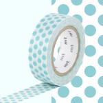 Masking Tape 1P Pois bleu lagon 15 mm x 10 m