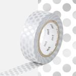 Masking Tape 1P Pois argent 15 mm x 10 m
