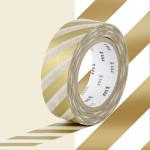 Masking Tape 1P Rayure or 15 mm x 10 m