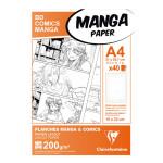 Papier Manga BD Comic A4 - 40 Fles - 200 g/m² Grille divisée