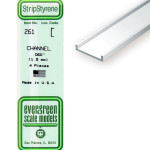 Baguette profile en U en plastique 350 x 1,5 x 0,94 mm - 4 pcs