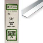 Baguette profile en L en plastique 350 x 2 x 2 mm - 4 pcs