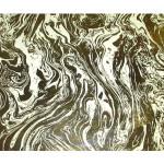 Papier Indien 50 x 70 cm 120 g/m² Ivoire Marbré Feuille d'Or