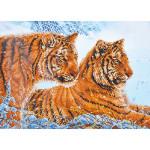 Broderie Diamant kit expert Tigres dans la neige