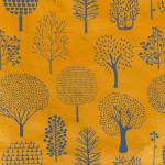 Papier Lokta Imprimé 50 x 75 cm Forêt orange
