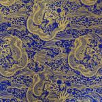 Papier Lokta Imprimé 50 x 75 cm Dragon bleu