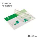 Pochette de plastification A4 75 microns Brillante 25 pcs