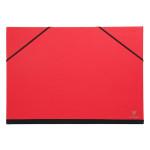 Carton à dessin à élastiques 37 x 52 cm Rouge