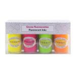 Encre pigmentée fluorescente 4 couleurs 15 ml