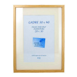 Cadre en MDF Carla chêne + passe-partout - 40 x 50 cm