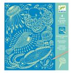 Carte à gratter Sea life
