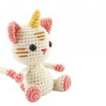 Kit de crochet animal Chat-licorne