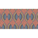 Coupon de tissu Wax imprimé Ethnique Sahara 1 - 150 x 160 cm