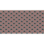 Coupon de tissu Wax imprimé Ethnique Sahara 4 - 150 x 160 cm