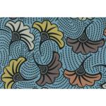 Coupon de tissu Wax imprimé Ethnique Sahara 28 - 150 x 160 cm
