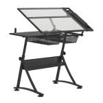Table à dessin Fusion plateau en verre