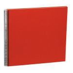 Album spiralé Economy Large 50 pages crème couvertures Efalin 34,5 x 33,2 cm - Bleu marine