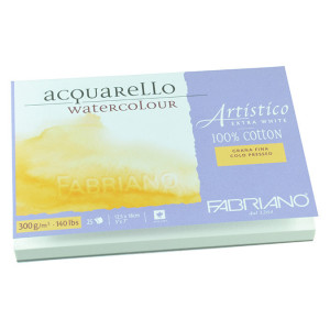 Bloc de papier 300 g/m² Grain Fin Artistico Extra Blanc - 26 x 18 cm