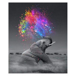 Peinture par numéros Eléphant Et Explosion de Couleurs
