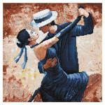 Broderie Diamant kit  intermediaire Tango passion