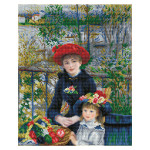 Broderie Diamant kit  intermediaire Les deux sœurs par Auguste Renoir