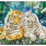 Broderie Diamant kit  expert Câlins de tigres