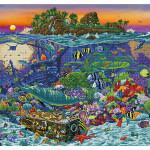 Broderie Diamant kit  expert Coral reef island