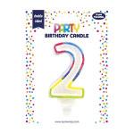 Bougie d'anniversaire Chiffre 2