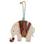Kit bijou Pendentif en bois Éléphant