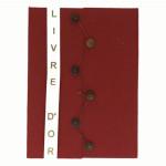 Livre d'or A4 21 x 29,7 cm 100p Rouge
